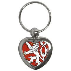 Bohemia Coat Of Arms  Key Chains (Heart)