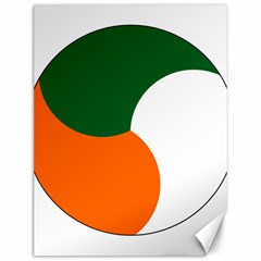 Irish Air Corps Roundel Canvas 12  x 16