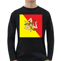 Coat Of Arms Of Sicily Long Sleeve Dark T-Shirts
