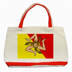 Coat Of Arms Of Sicily Classic Tote Bag (Red)