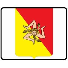 Coat Of Arms Of Sicily Fleece Blanket (Medium)