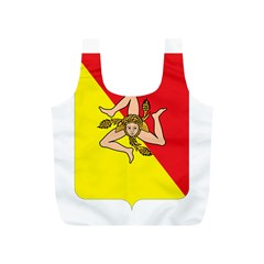 Coat Of Arms Of Sicily Full Print Recycle Bags (S)