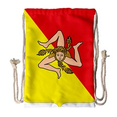 Coat Of Arms Of Sicily Drawstring Bag (Large)