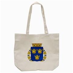 Lesser Coat Of Arms Of Sweden Tote Bag (Cream)