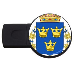 Lesser Coat Of Arms Of Sweden USB Flash Drive Round (4 GB)