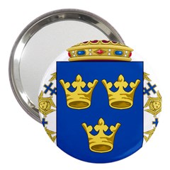 Lesser Coat Of Arms Of Sweden 3  Handbag Mirrors