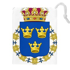 Lesser Coat Of Arms Of Sweden Drawstring Pouches (XXL)