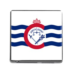 Flag Of Cincinnati Memory Card Reader (Square)