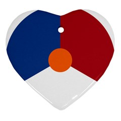 Roundel Of The Royal Netherlands Air Force Ornament (Heart)