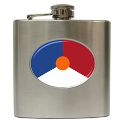 Roundel Of The Royal Netherlands Air Force Hip Flask (6 oz)