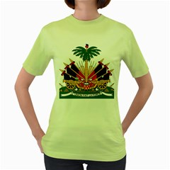 Coat Of Arms Of Haiti Women s Green T-Shirt