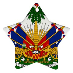 Coat Of Arms Of Haiti Star Ornament (Two Sides)