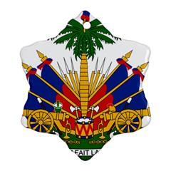 Coat Of Arms Of Haiti Ornament (Snowflake)