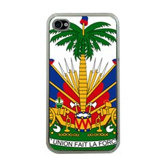 Coat Of Arms Of Haiti Apple iPhone 4 Case (Clear)