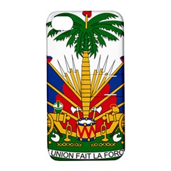 Coat Of Arms Of Haiti Apple iPhone 4/4S Hardshell Case with Stand