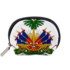 Coat Of Arms Of Haiti Accessory Pouches (Small)