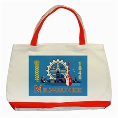Flag Of Milwaukee Classic Tote Bag (Red)