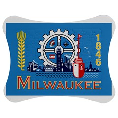 Flag Of Milwaukee Jigsaw Puzzle Photo Stand (Bow)