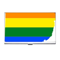 Lgbt Flag Map Of Ohio  Business Card Holders