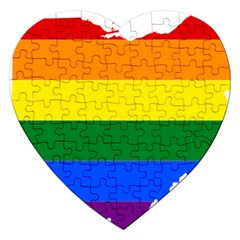 Lgbt Flag Map Of Ohio  Jigsaw Puzzle (Heart)