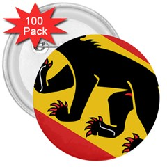 Coat Of Arms Of Bern Canton  3  Buttons (100 pack)