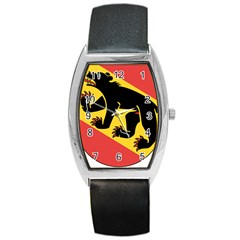 Coat Of Arms Of Bern Canton  Barrel Style Metal Watch