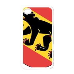 Coat Of Arms Of Bern Canton  Apple iPhone 4 Case (White)