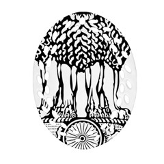 Emblem Of India Ornament (Oval Filigree)