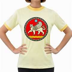 Seal Of Samarkand  Women s Fitted Ringer T-Shirts