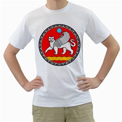 Seal Of Samarkand  Men s T-Shirt (White) (Two Sided)