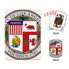 City Of Los Angeles Seal Playing Card