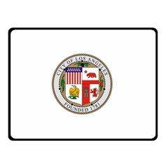 City Of Los Angeles Seal Double Sided Fleece Blanket (Small)