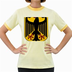Coat Of Arms Of Germany Women s Fitted Ringer T-Shirts
