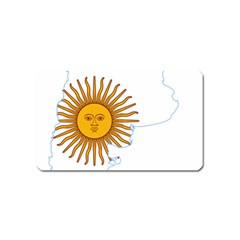 Flag Map Of Argentina Magnet (name Card)