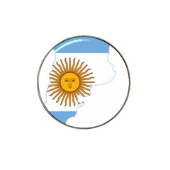 Flag Map Of Argentina Hat Clip Ball Marker (4 pack)