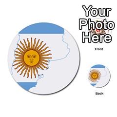 Flag Map Of Argentina Multi-purpose Cards (Round)