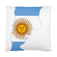 Flag Map Of Argentina Standard Cushion Case (Two Sides)