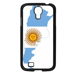 Flag Map Of Argentina Samsung Galaxy S4 I9500/ I9505 Case (Black)