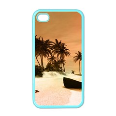 Wonderful Sunset Over The Beach, Tropcal Island Apple iPhone 4 Case (Color)