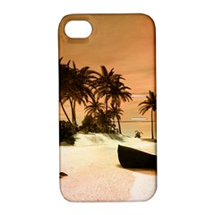 Wonderful Sunset Over The Beach, Tropcal Island Apple iPhone 4/4S Hardshell Case with Stand