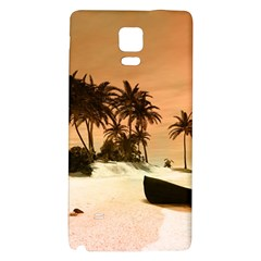 Wonderful Sunset Over The Beach, Tropcal Island Galaxy Note 4 Back Case