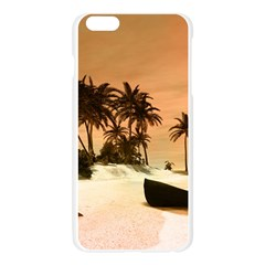 Wonderful Sunset Over The Beach, Tropcal Island Apple Seamless iPhone 6 Plus/6S Plus Case (Transparent)