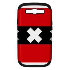 Flag Of Amsterdam Samsung Galaxy S III Hardshell Case (PC+Silicone)
