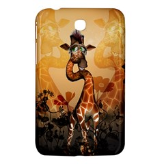 Funny, Cute Giraffe With Sunglasses And Flowers Samsung Galaxy Tab 3 (7 ) P3200 Hardshell Case