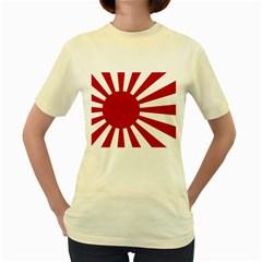 Ensign Of The Imperial Japanese Navy And The Japan Maritime Self Defense Force Women s Yellow T-Shirt