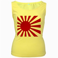 Ensign Of The Imperial Japanese Navy And The Japan Maritime Self Defense Force Women s Yellow Tank Top