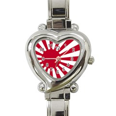 Ensign Of The Imperial Japanese Navy And The Japan Maritime Self Defense Force Heart Italian Charm Watch