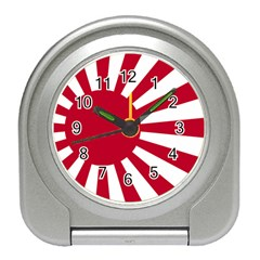 Ensign Of The Imperial Japanese Navy And The Japan Maritime Self Defense Force Travel Alarm Clocks
