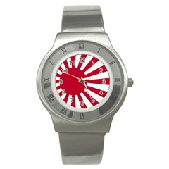 Ensign Of The Imperial Japanese Navy And The Japan Maritime Self Defense Force Stainless Steel Watch