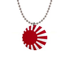 Ensign Of The Imperial Japanese Navy And The Japan Maritime Self Defense Force Button Necklaces